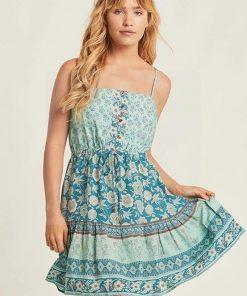 Hippie fließendes kurzes Kleid